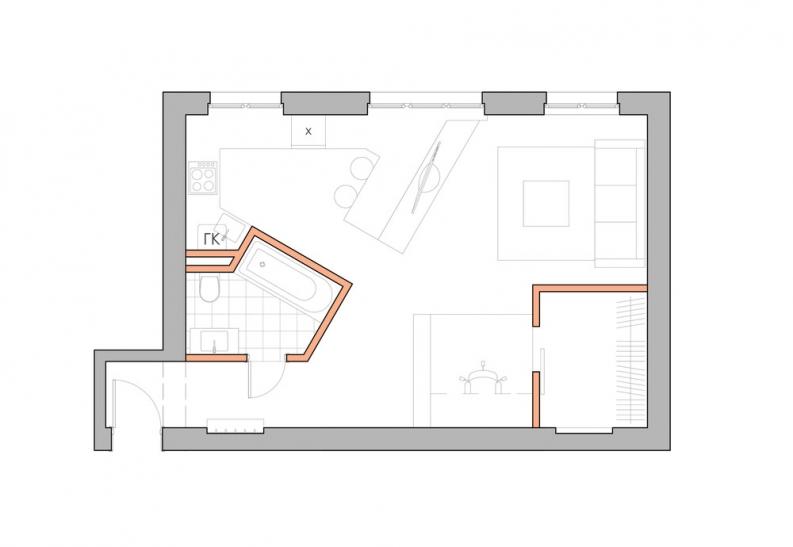 Перепланировка квартиры (124 фото): проект двухкомнатной