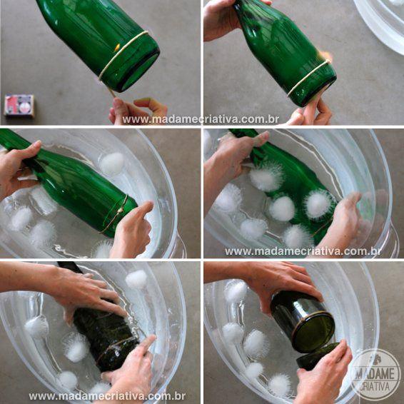 Свечи своими руками из бутылок