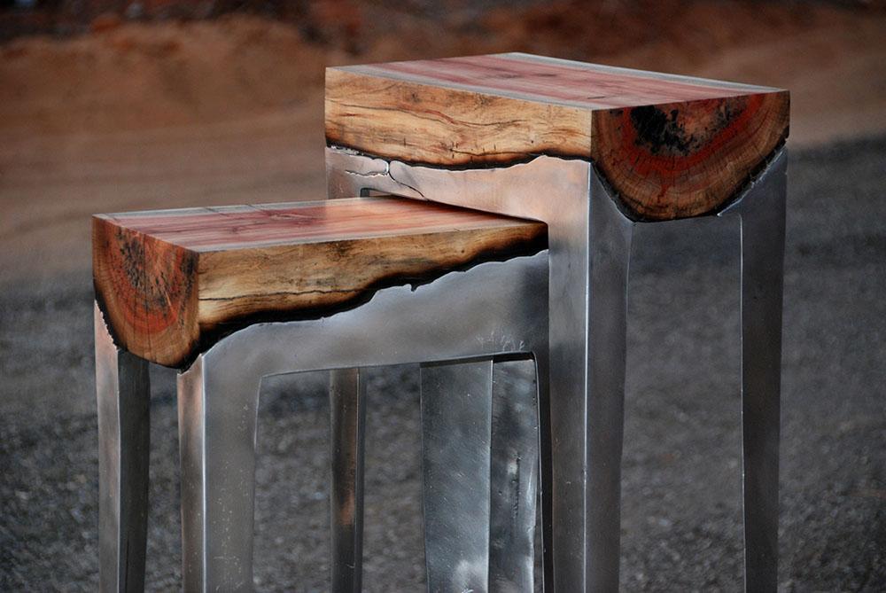 Столы из дерева и металла своими руками 58