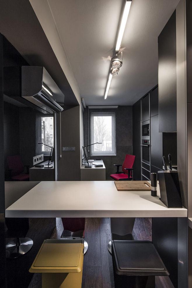 Дизайн маленькой квартиры в будапеште, 40 квм