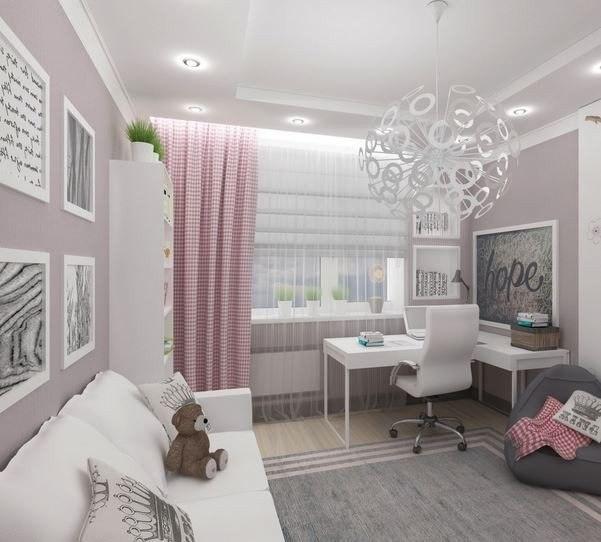 Дизайн комнаты для девушки 10 метров квадратных