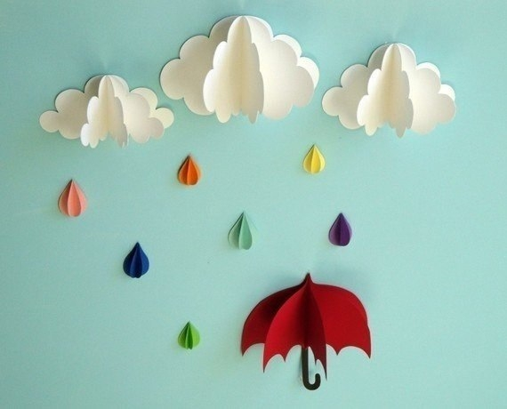 Зонтики на стену из бумаги своими руками 25