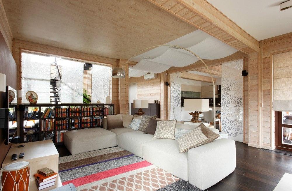 Дизайн простого частного дома внутри