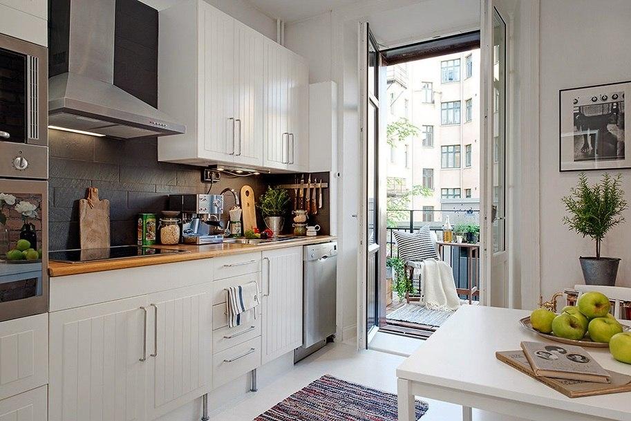 Как обустроить маленькую кухню (5 или 6 кв. метров). фото ::.