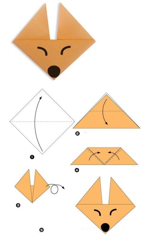 Поделки из бумаги оригами легко