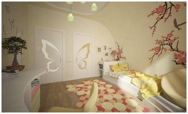 дизайн детской комнаты для девушки 2