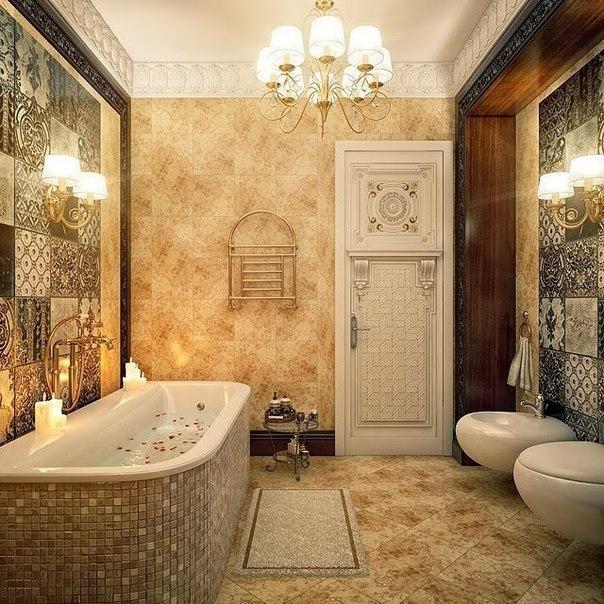 20 Luxury Small Bathroom Design Ideas 2017 2018: Шикарный дизайн интерьера ванной комнаты