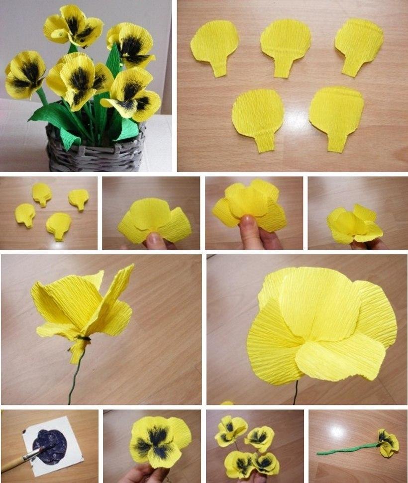 Поделка цветы с пошаговыми