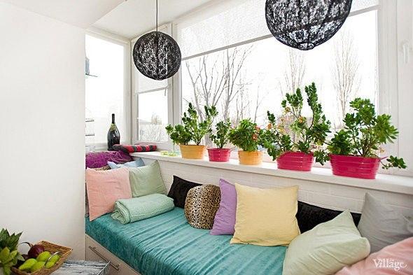 Дизайн диван на лоджии фото.