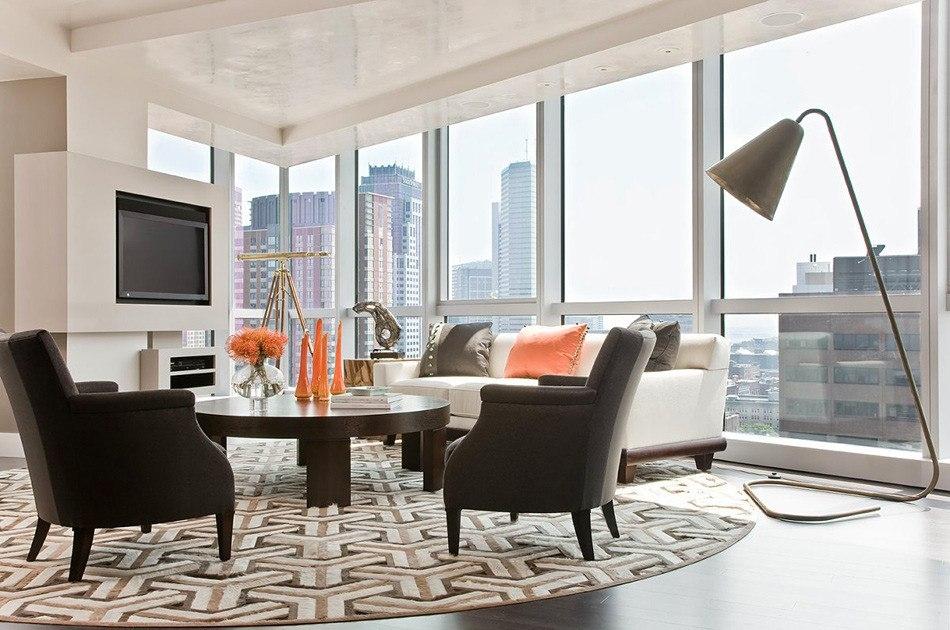 Living room modern rugs