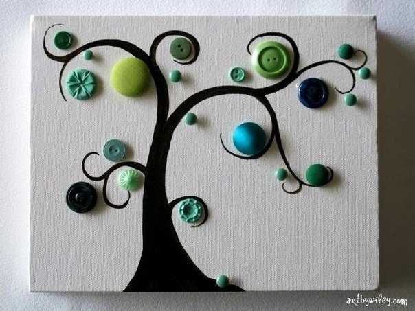 Деревья из пуговиц своими руками