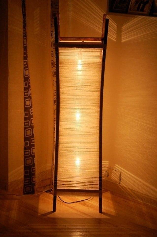 Напольный светильник своими руками мастер класс фото