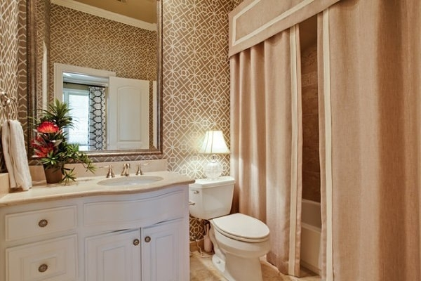 Natural Home Ombre Textured Shower Curtain with Beaded