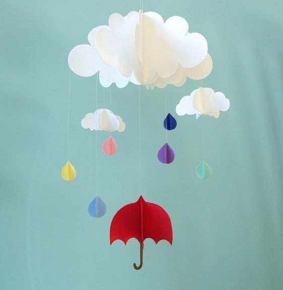 Зонтики на стену из бумаги своими руками 20