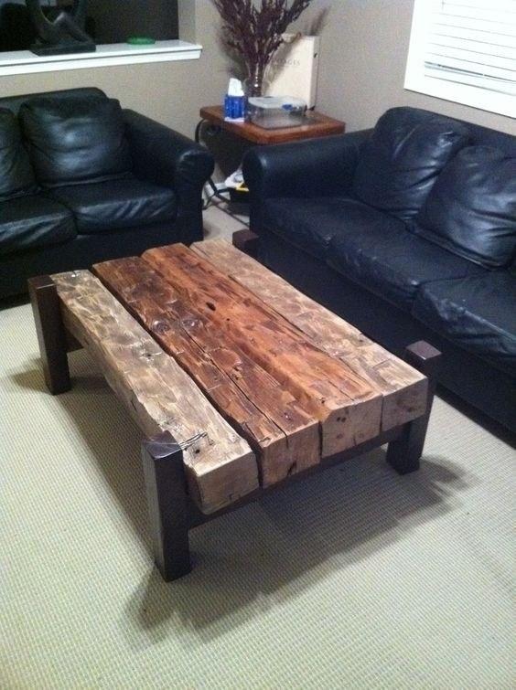 Деревянный стол в стиле лофт своими руками 35